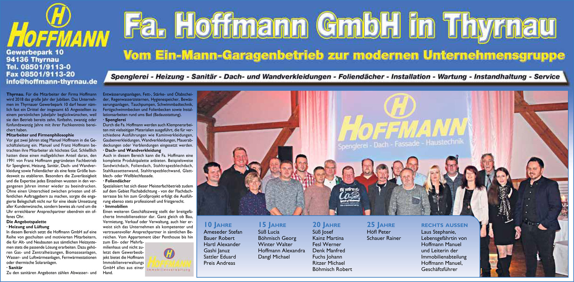 Fa. Hoffmann GmbH Thyrnau