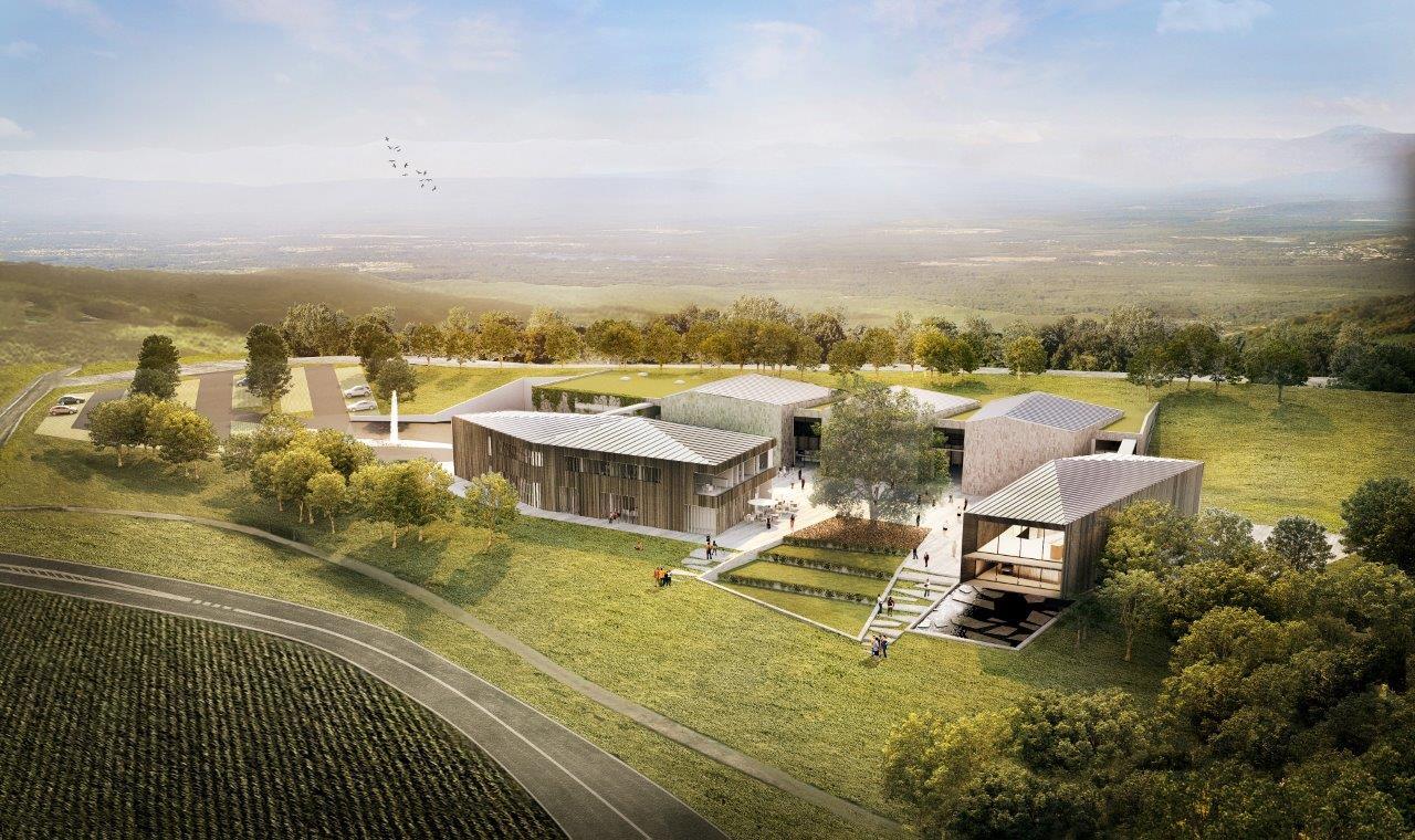 Vogelperspektive Neubaus der Penninger Firmenzentrale in Waldkirchen