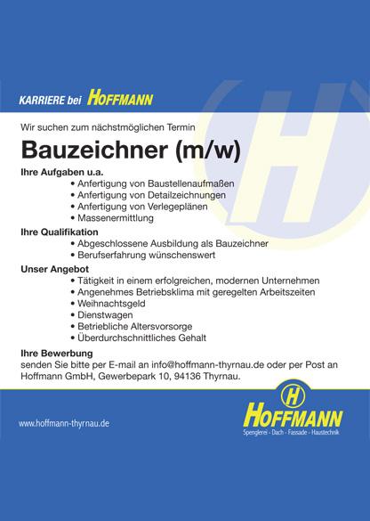 Wir suchen Bauzeichner - Hoffmann GmbH Thyrnau Passau