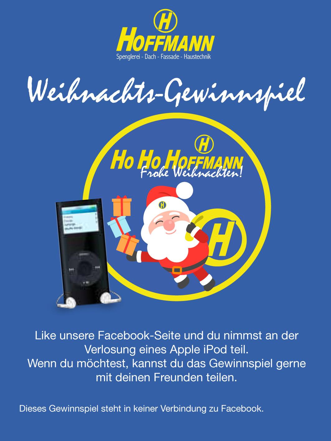 Weihnachts-Gewinnspiel Verlosung eines Apple iPod