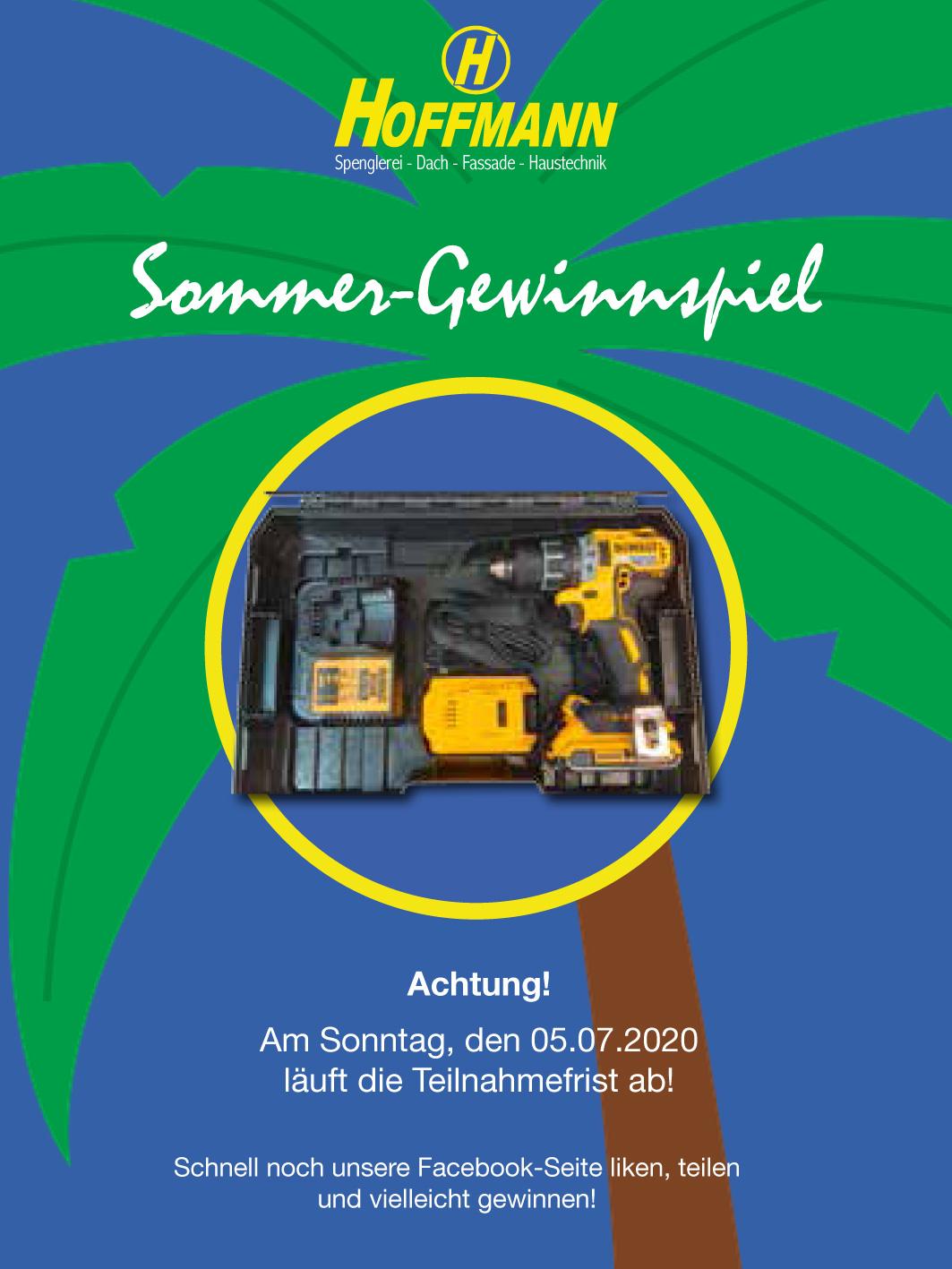 Sommer-Gewinnspiel bei Hoffmann Firmengruppe! Achtung! Am Sonntag, den 05.07.2020 läuft die Teilnahmefrist ab!