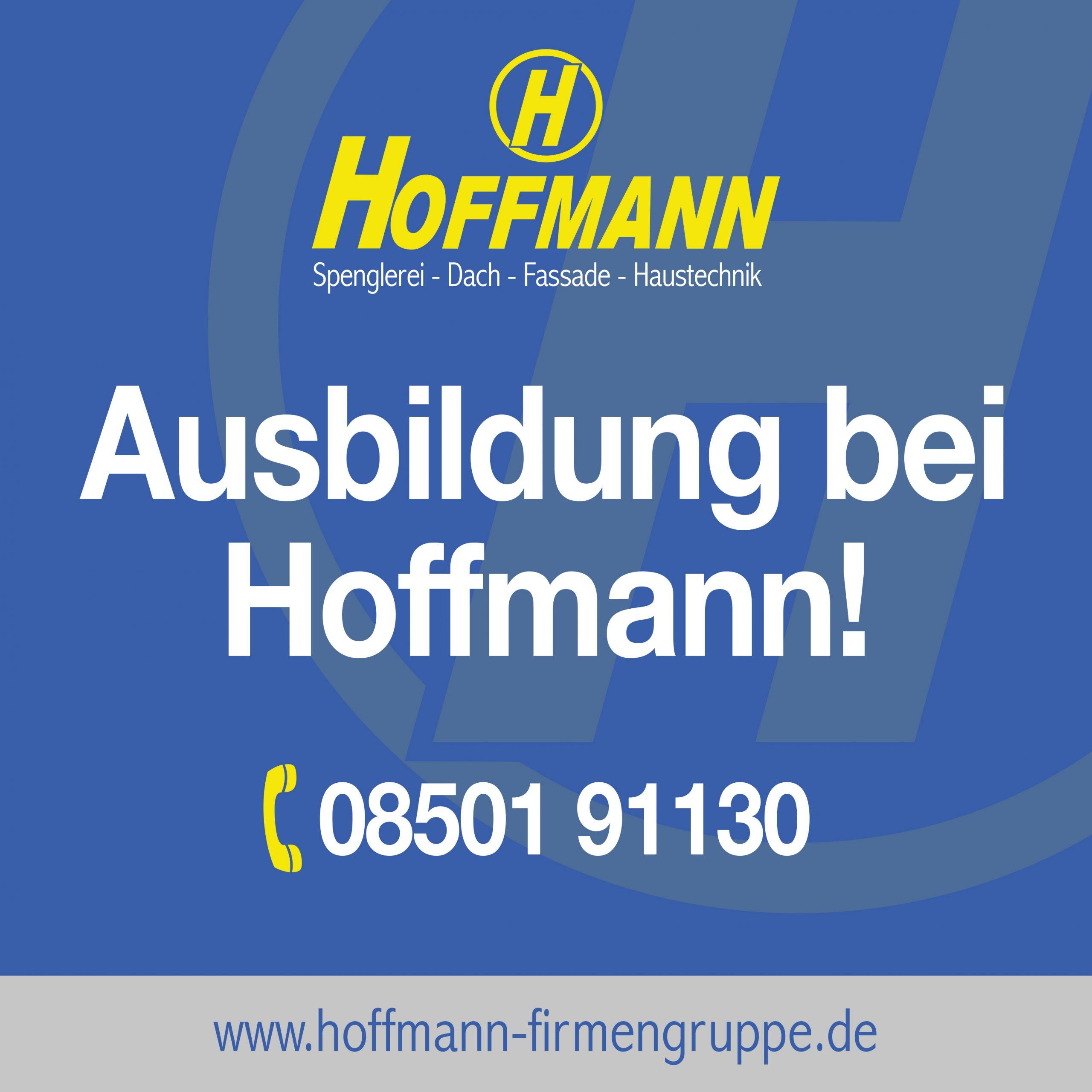 Ausbildung bei der Firmengruppe Hoffmann: Spengler m/w/d, Anlagenmechaniker m/w/d, Bürokauffrau m/w/d