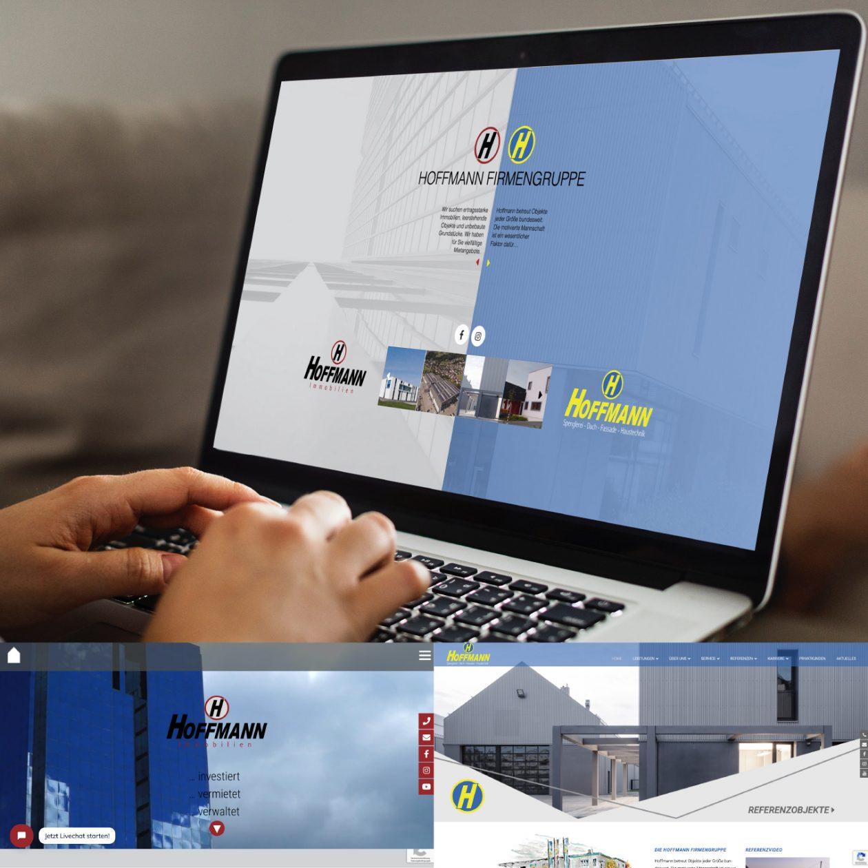 Hoffmann Firmengruppe neue Webdesign, Programmierung